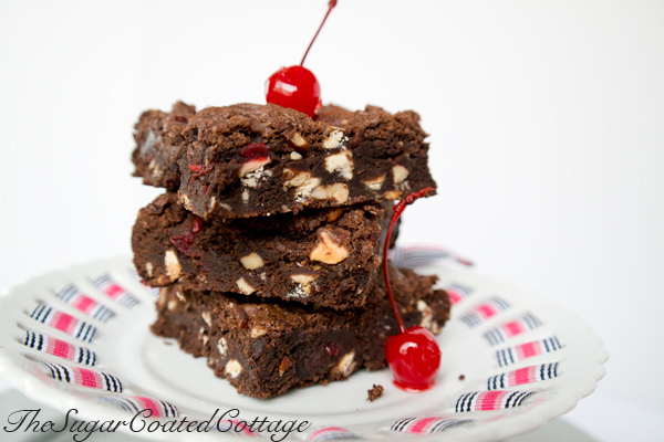 maraschino-cherry-white-chocolate-almond-brownie
