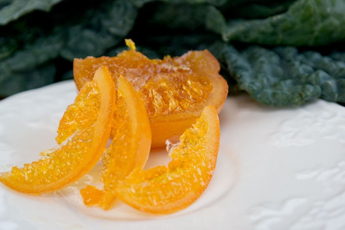 candied orange kale
