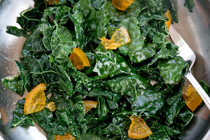 candied orange kale