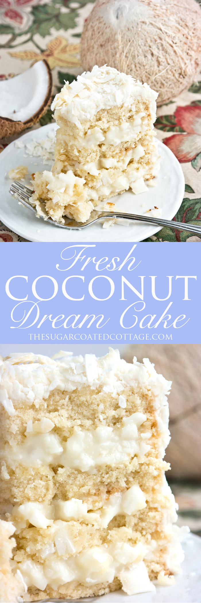 Fresh Coconut Dream Cake