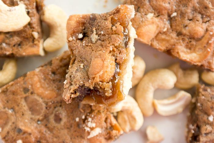 cashew brown sugar shortbread