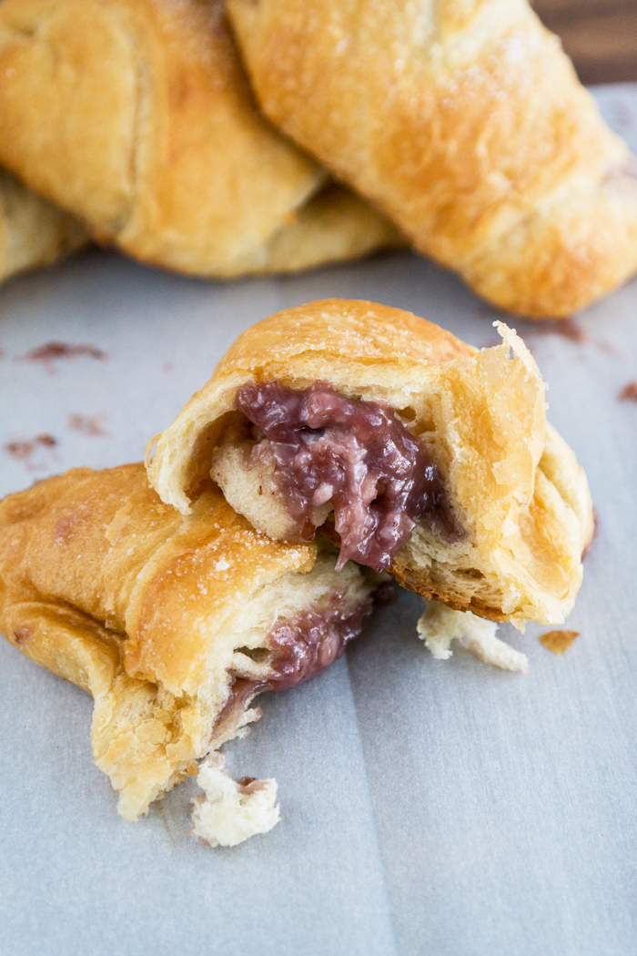 cream cheese raspberry almond crescents