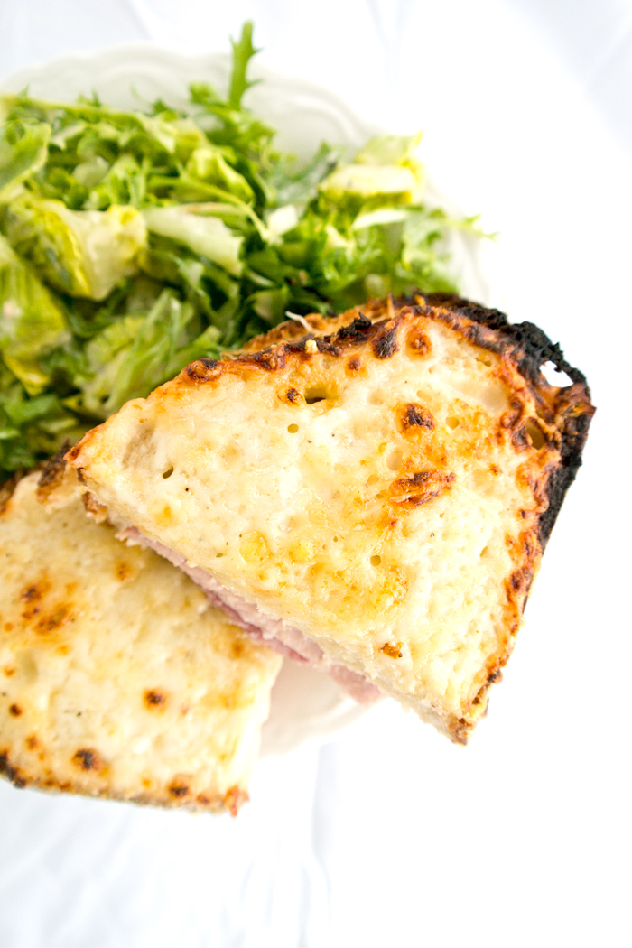 Croque-monsieur on sour dough 1