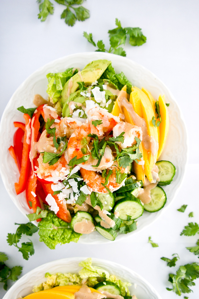 ginger-shrimp-mango-salad-satay-dressing
