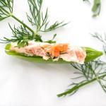 smoked salmon sugar snap peas 2