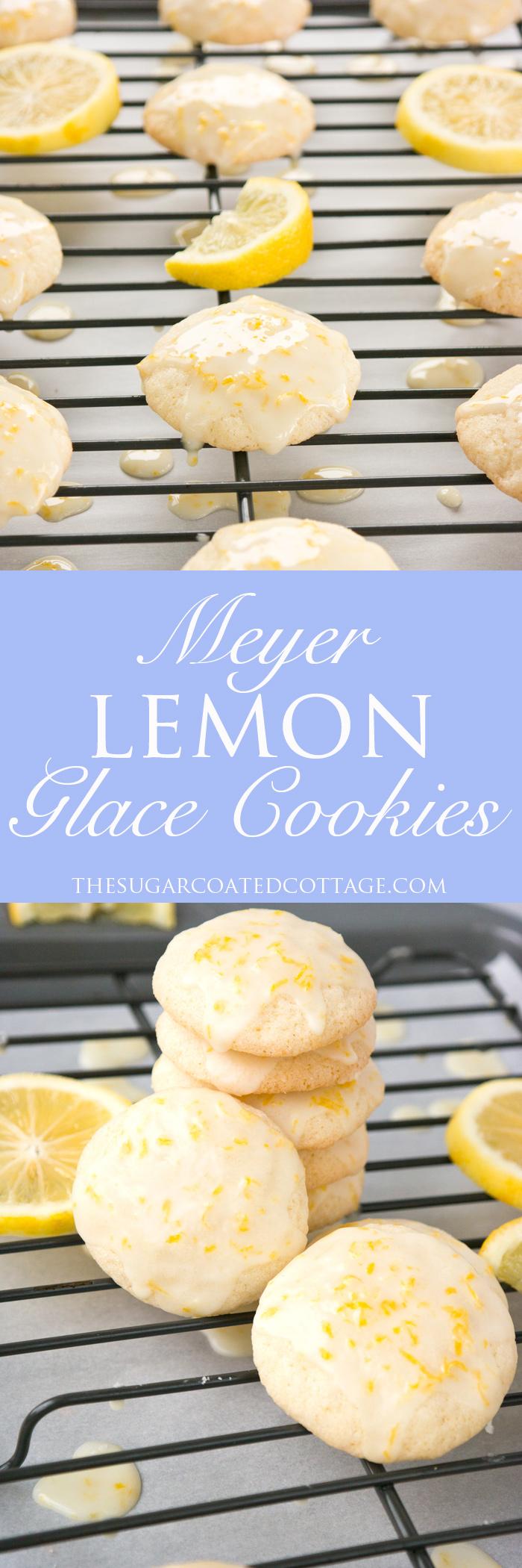 Meyer Lemon Glace Cookies