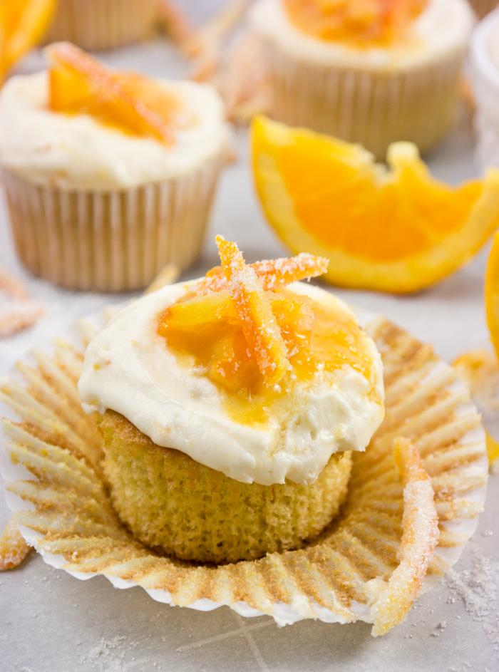 orange scented cupcakes