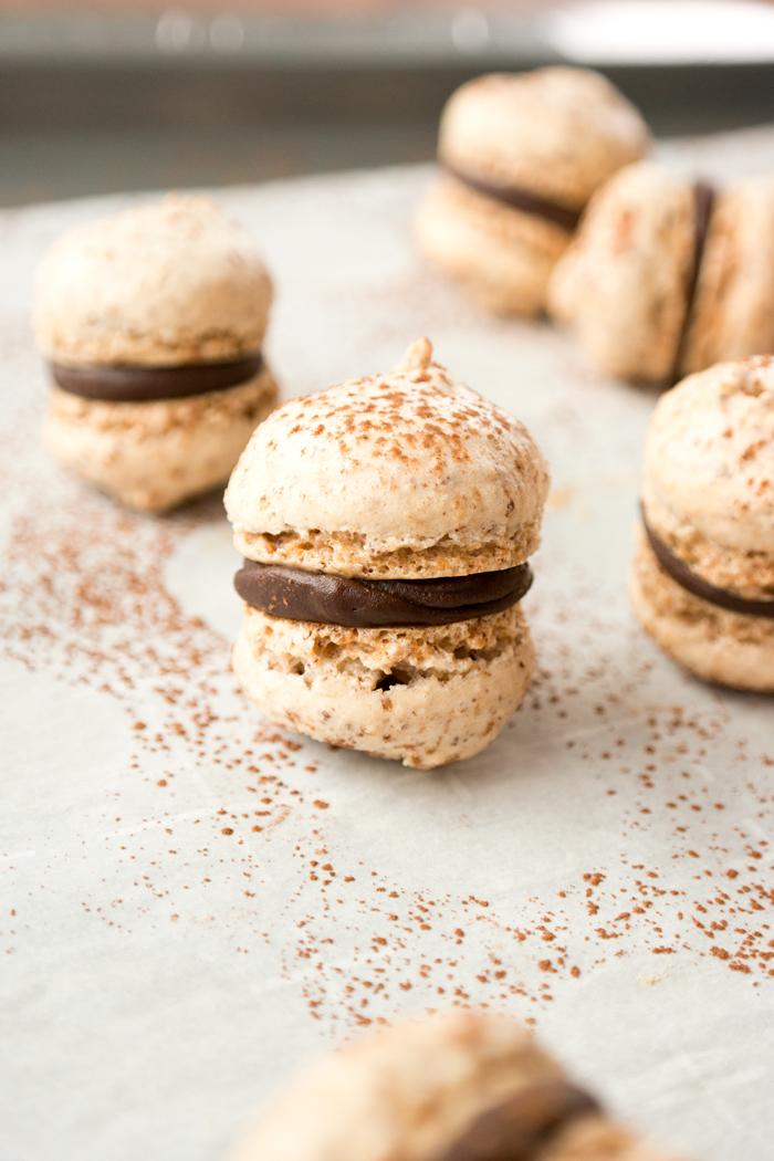 Hazelnut Meringue Sandwich Cookies