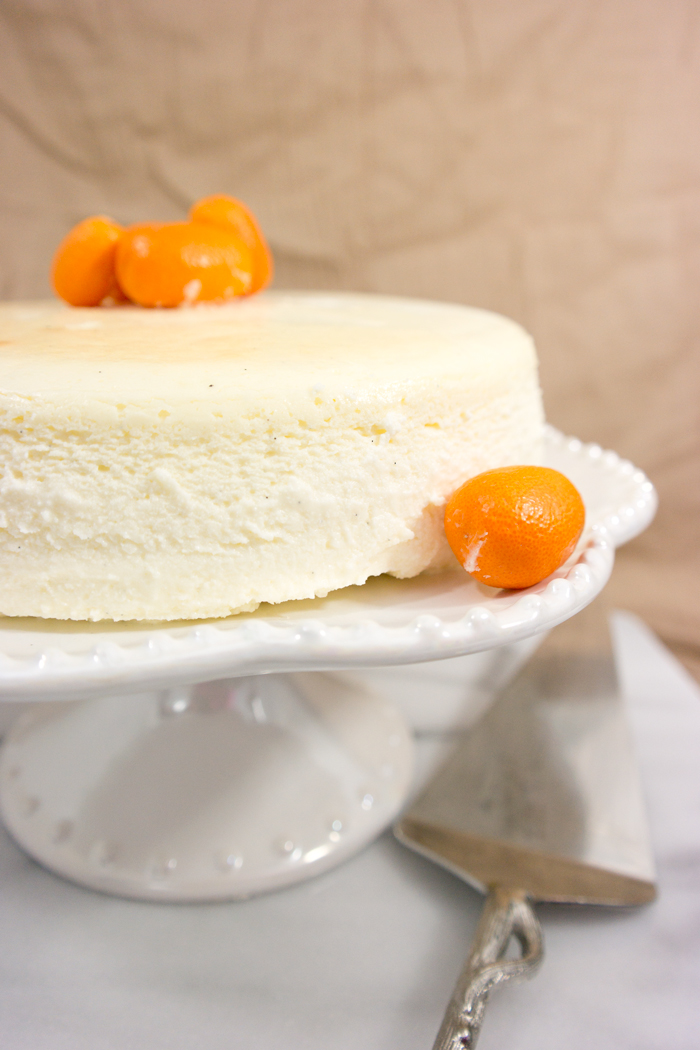 crustless vanilla bean cheesecake