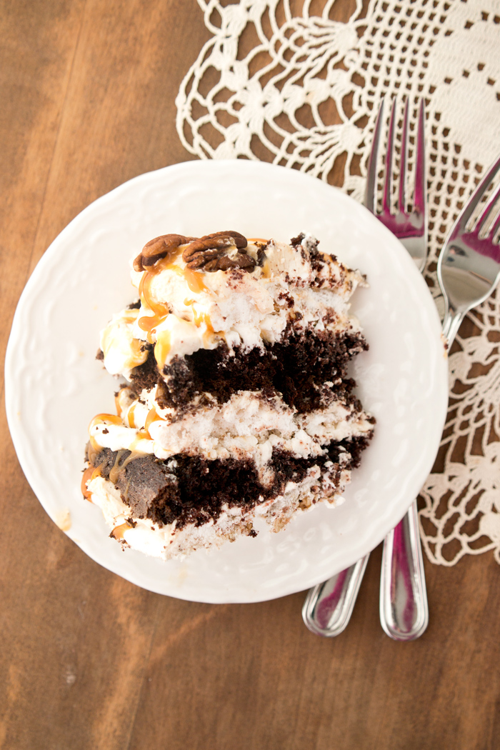 Butterscotch Pecan Dacquoise Cake
