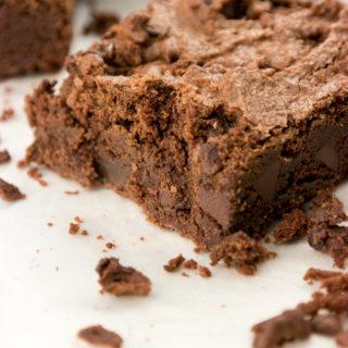 Fudgy Dark Chocolate Chip Brownies