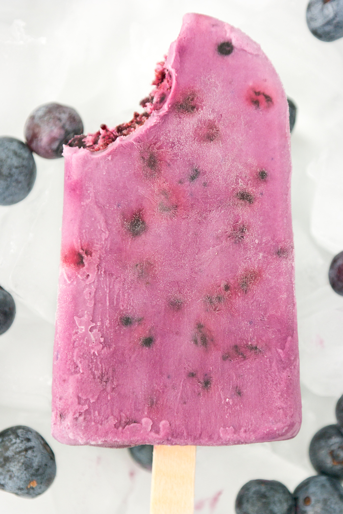 blueberry cream pops