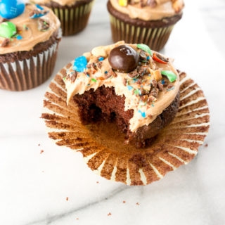 pb frosted chocolate cupcakes
