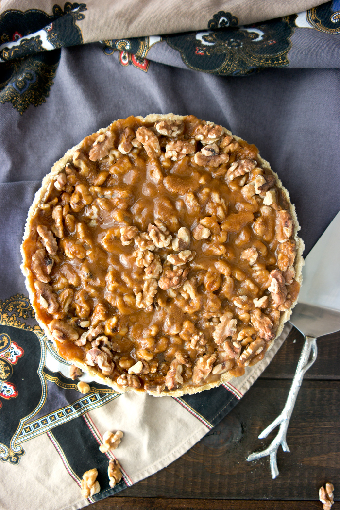 Butterscotch Walnut Cream Cheese Tart