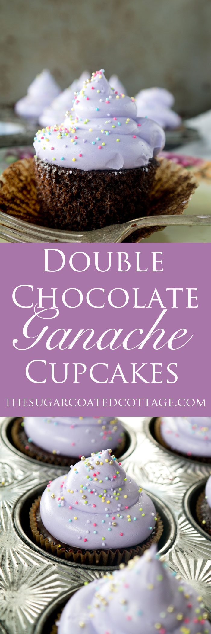 Double Chocolate Ganache Filled Cupcakes