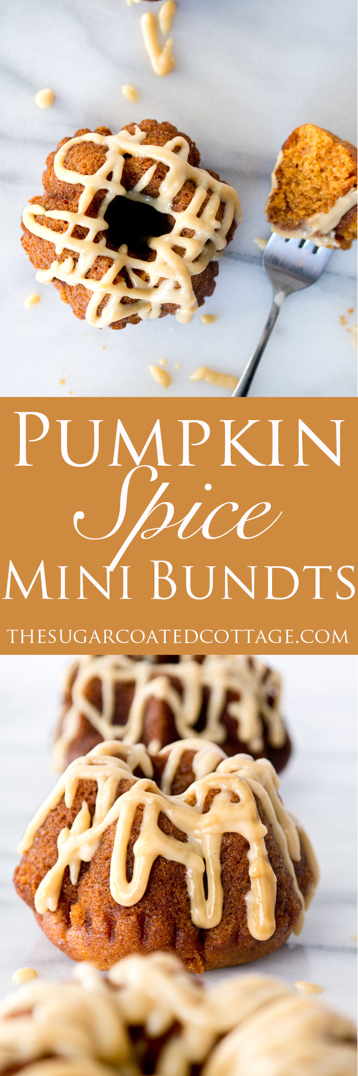 Pumpkin Spice Mini Bundt's with Baileys Pumpkin Spice Glaze