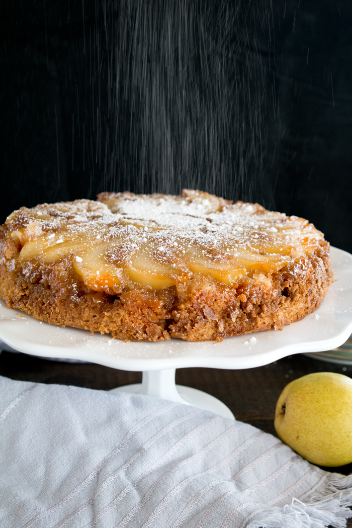 Cinnamon Pear Upside Down Cake