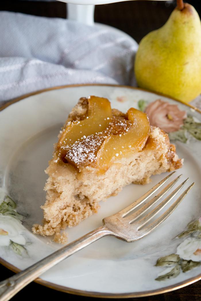 Cinnamon Pear Upside Down Cake