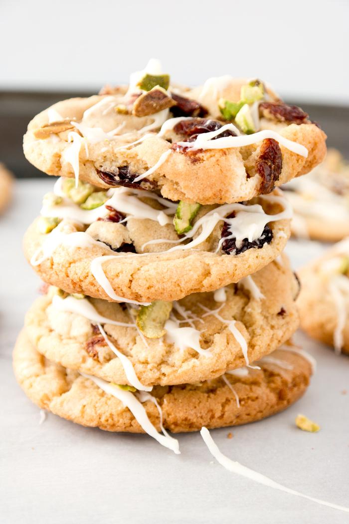 Drunken Cherry Pistachio Cookies