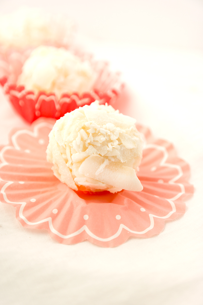 creamy coconut truffles