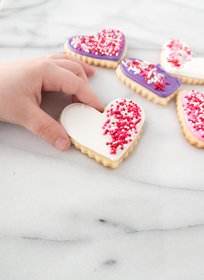 Vanilla Bean Valentine Sugar Cookies