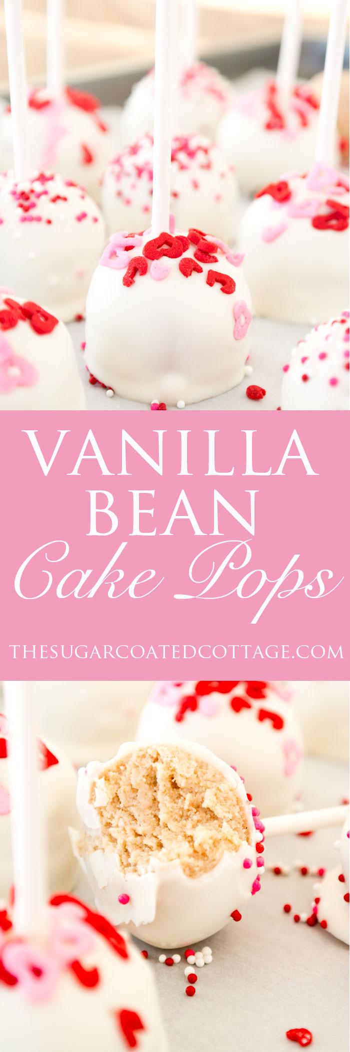 vanilla bean cake pops