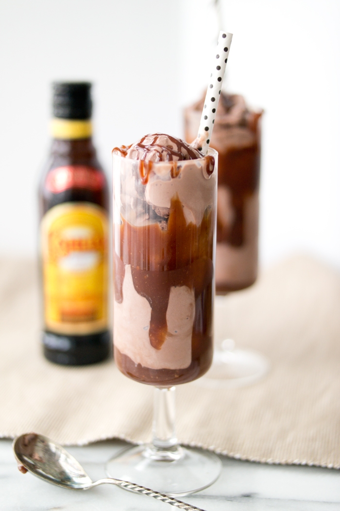 Boozy Chocolate Coffee Sundaes