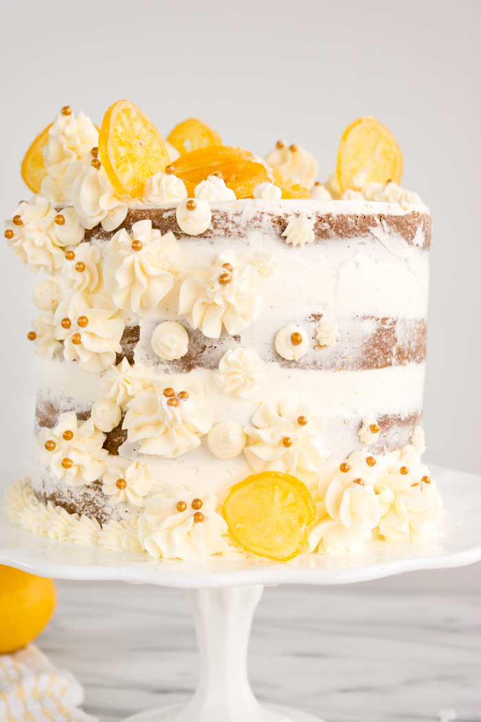 Meyer Lemon Sour Cream Cake