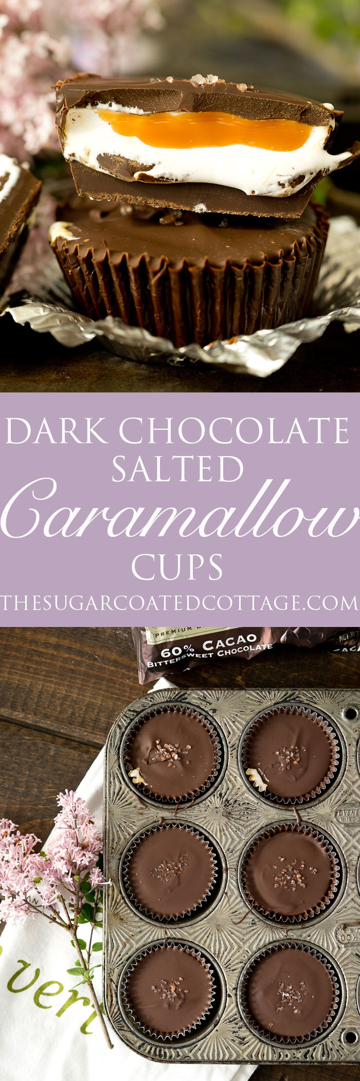 Dark Chocolate Salted Caramallow Cups