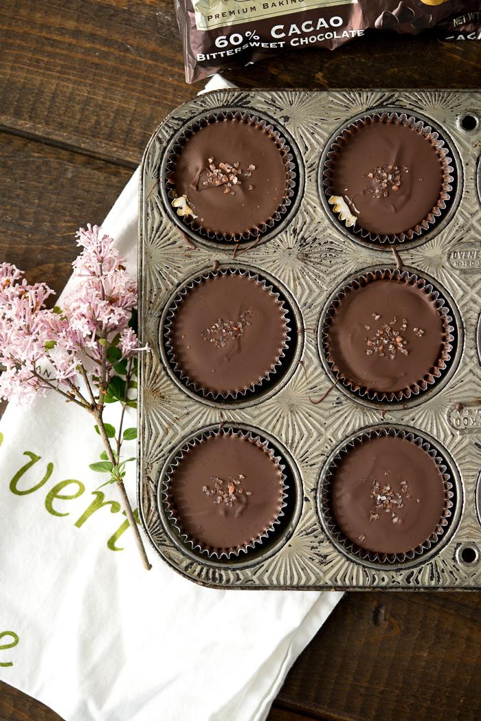 Dark Chocolate Salted Caramallow Cups