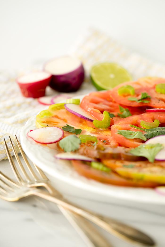 Heirloom Tomato and Radish Salad