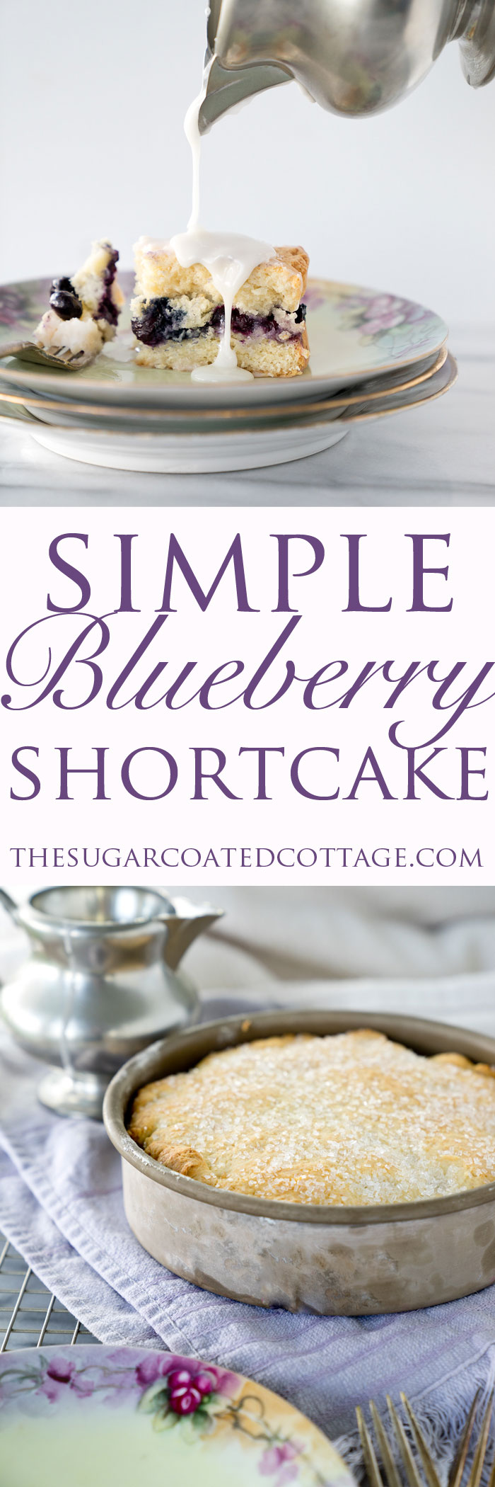 Simply Delicious Blueberry Shortcake! Loving this easy classic shortcake recipe. Summer is all about blueberries so indulge in this simple, delicious dessert perfect for any occasion. | thesugarcoatedcottage.com