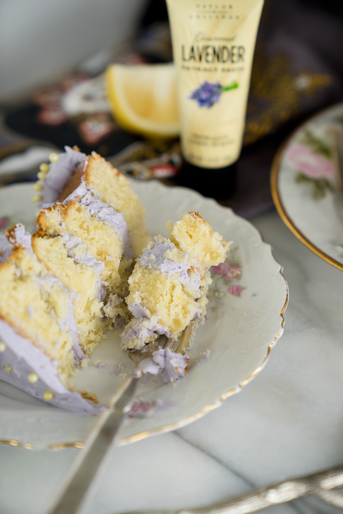 LusciousLemon Lavender Cake Recipe. A delightful cake with a hint of lavender. | thesugarcoatedcottage.com