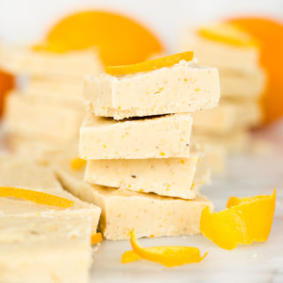 Vanilla Bean Orange Spiced Fudge Recipe. Smooth, creamy, melt in your mouth fudge with the bright freshness of orange and lightly spiced. | thesugarcoatedcottage.com
