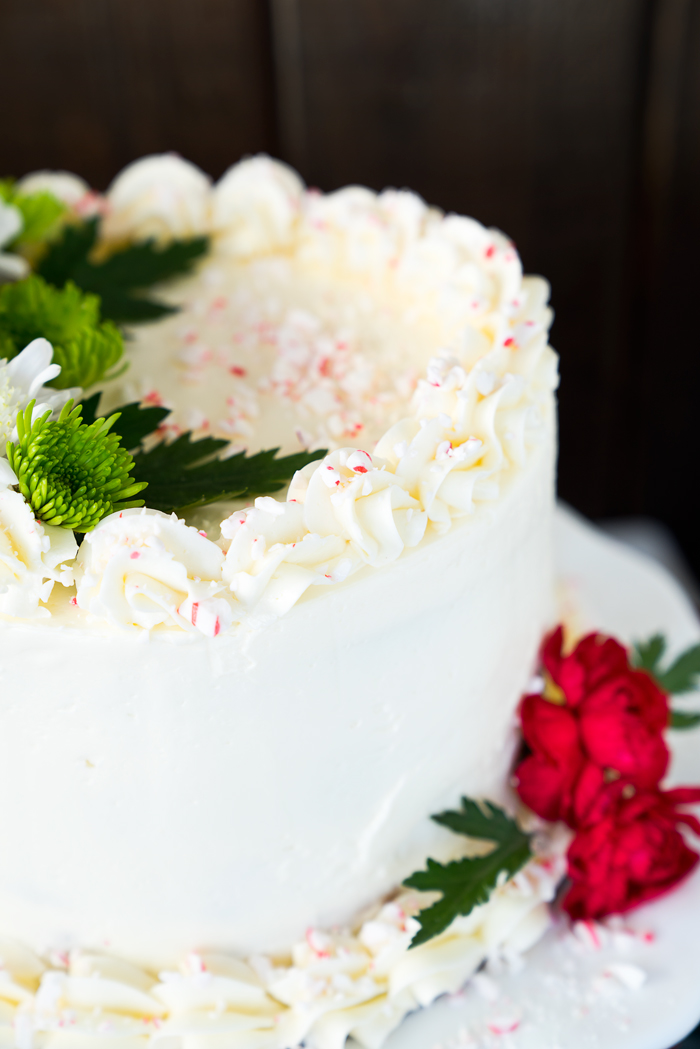 White Chocolate Flowers Cake
