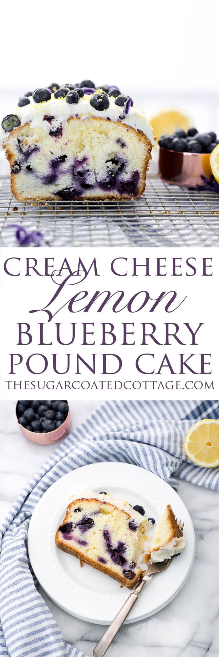 Cream Cheese Lemon Blueberry Pound Cake Recipe