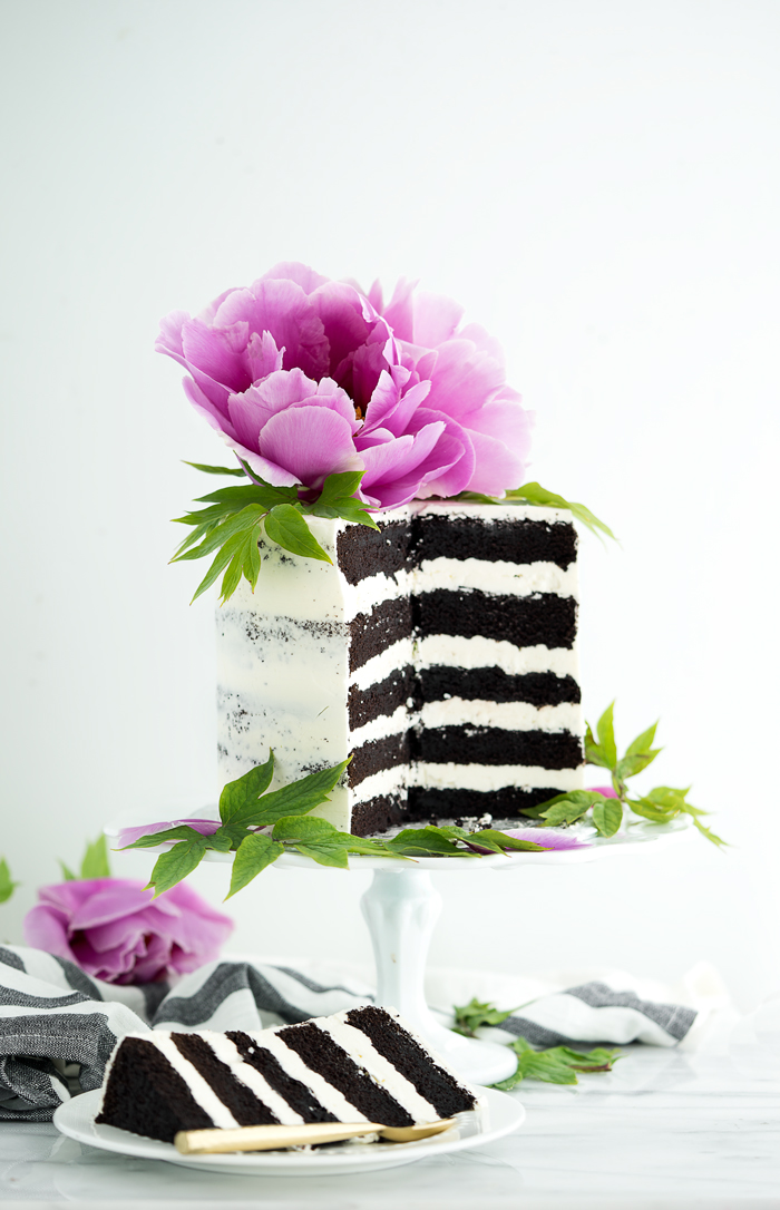 Deep Dark Chocolate 5 Layer Cake Recipe. The absolute best chocolate cake ever! #cake #chocolatecake #chocolate #cakerecipe #recipe | thesugarcoatedcottage.com