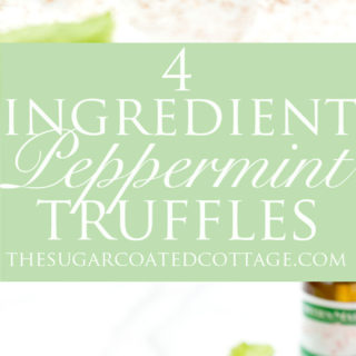 4 Ingredient Peppermint Truffles. The best peppermint truffles! | #nobake #recipe #chocolate #candy #NielsenMasseyInspires | thesugarcoatedcottage.com @NielsenMassey