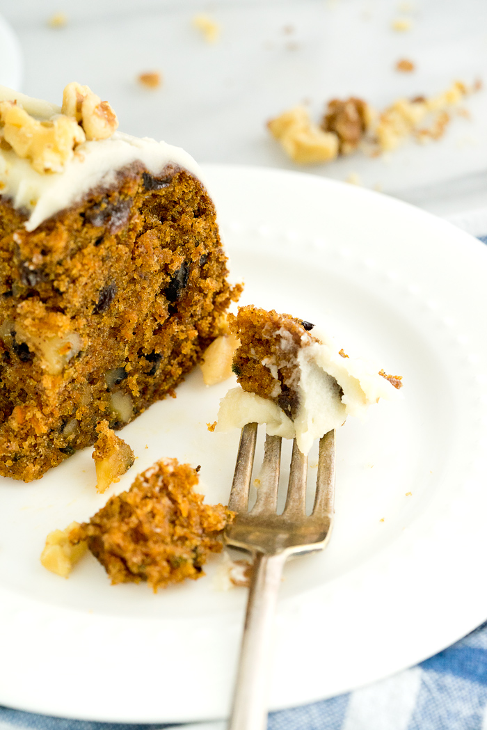 Rum Soaked Raisins Carrot Cake