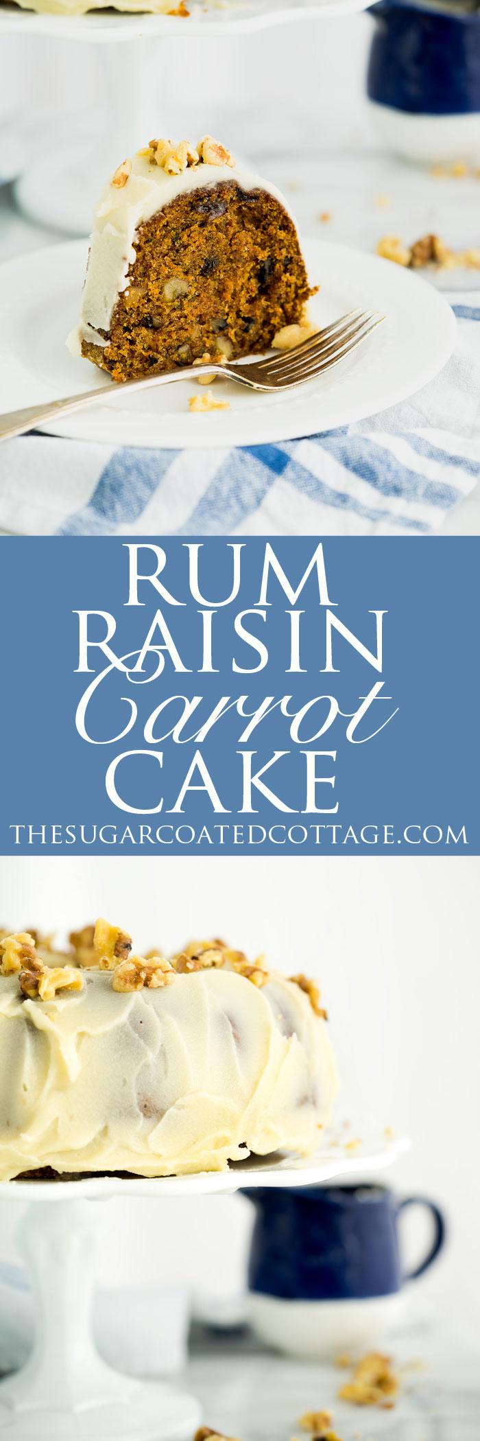 Rum Soaked Carrot Cake