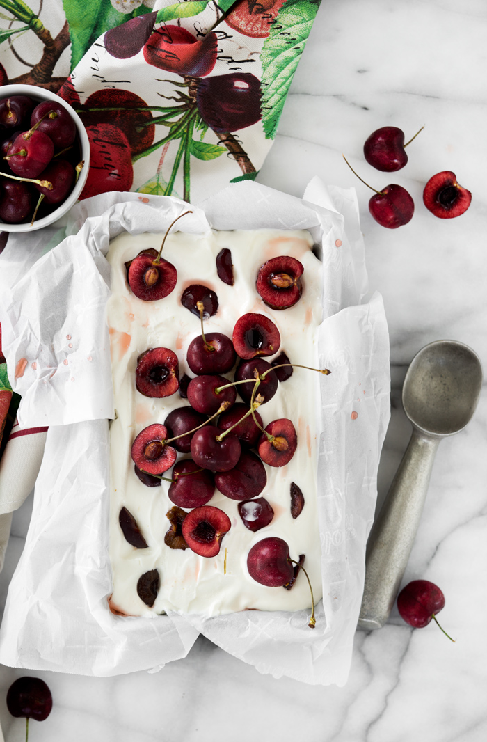 The best classy and sophisticated no churn ice cream recipe you and our friends will love. thesugarcoatedcottage.com | #nochurnicecream #brandy #cherry
