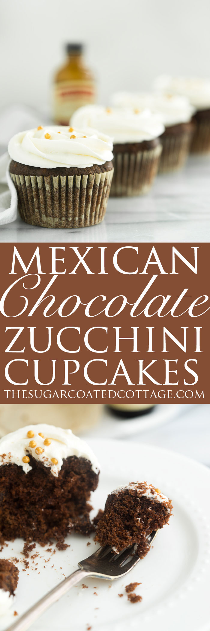 Deep rich moist chocolate zucchini cake base with strong hits of cinnamon and a pinch of nutmeg. | thesugarcoatedcottage.com #NielsenMasseyInspires