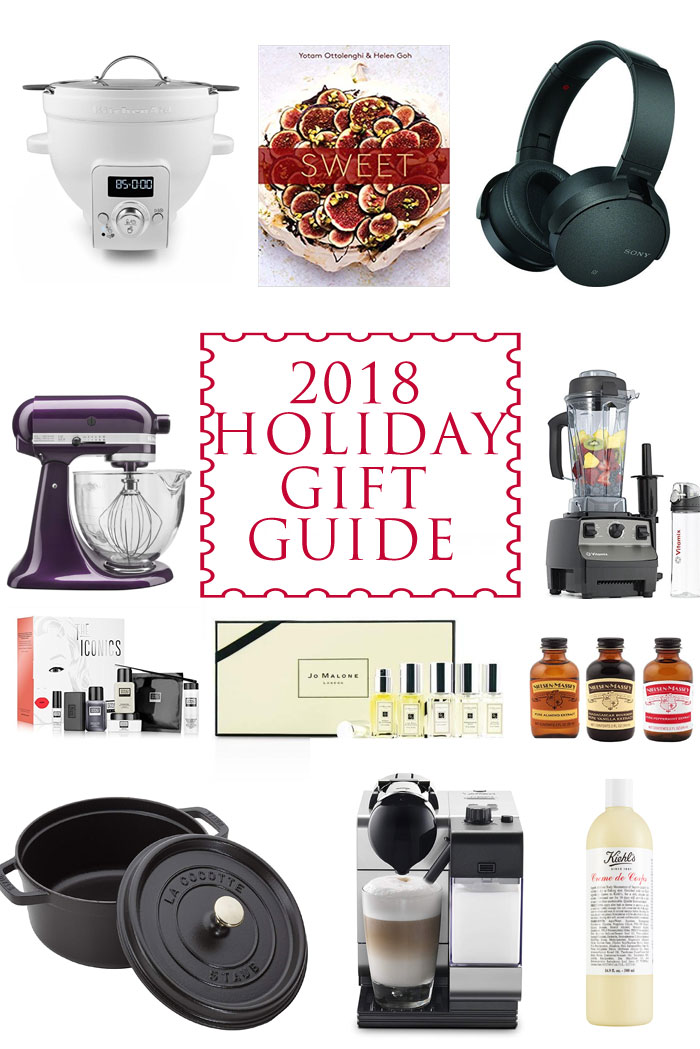 Your 2018 holiday gift guide. See my favorite beauty gifts, kitchen gifts, techie gifts and books. This holiday gift guide will be a huge help to you!!