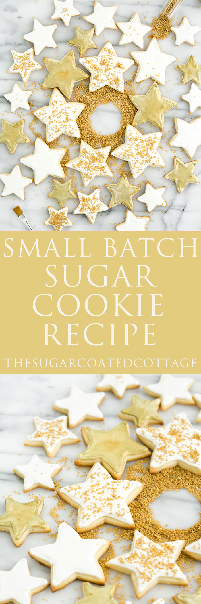 Small Batch Sugar Cookie Recipe. The best sugar cookie recipe when you don't want to make too many. | thesugarcoatedcottage.com cookies, christmas, holidays
