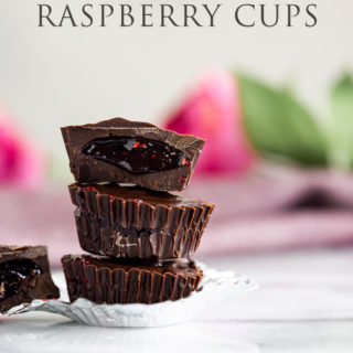 3 Ingredient Dark Chocolate Raspberry Cups. With just three ingredients you can make these super delicious, no bake treats in a breeze. No bake, simple, easy, 3 ingredient, dessert