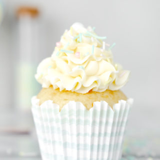 The best vanilla cupcake recipe. Sweet, buttery and full of vanilla flavor. | thesugarcoatedcottage.com #cupcakes #buttercream #vanillacupcake #cake #recipe