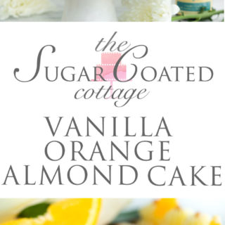 Vanilla Orange Almond Cake Recipe. Vanilla orange and almond soaked cake with layers of vanilla orange almond buttercream. | thesugarcoatedcottage.com #cake