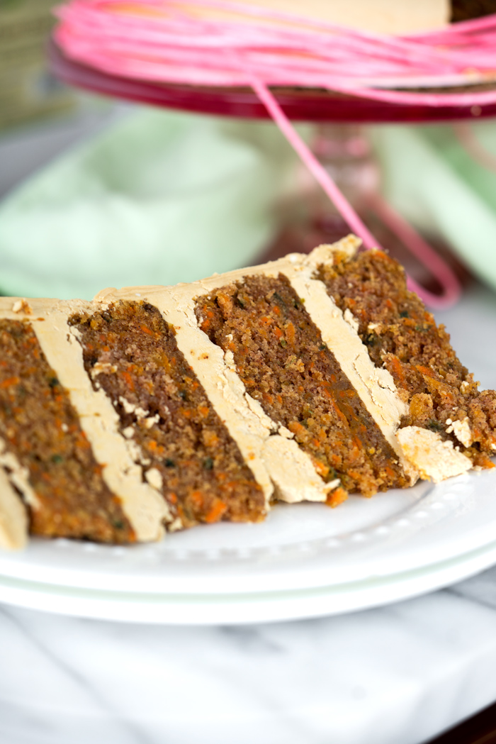 The Best Carrot Cake Recipe Ever. Hands down the most moist, carrot packed, delicious carrot cake recipe ever.   thesugarcoatedcottage.com #carrotcake #cake