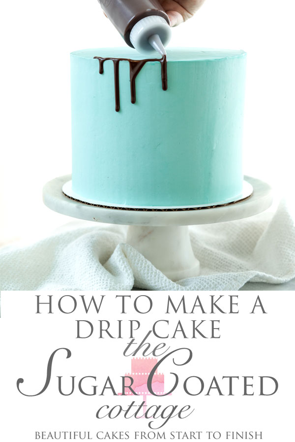 I'm showing you how to make a Drip Cake with photos and my drip ganache recipes with pictures. #dripcake #cakedecorating #cake